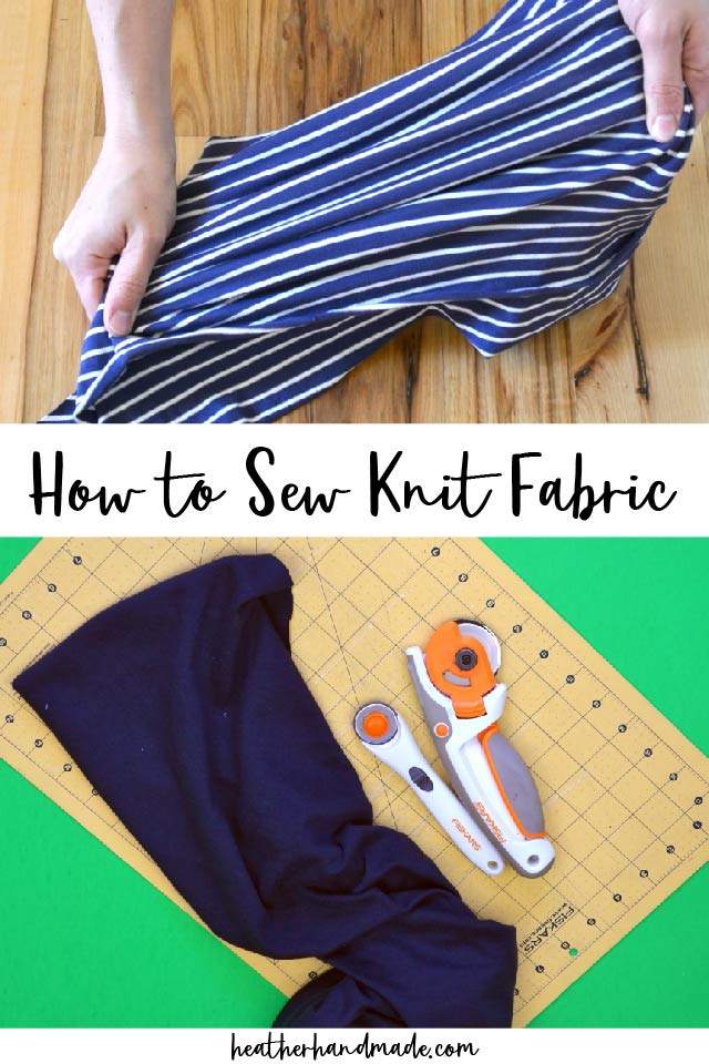 sew knit fabric
