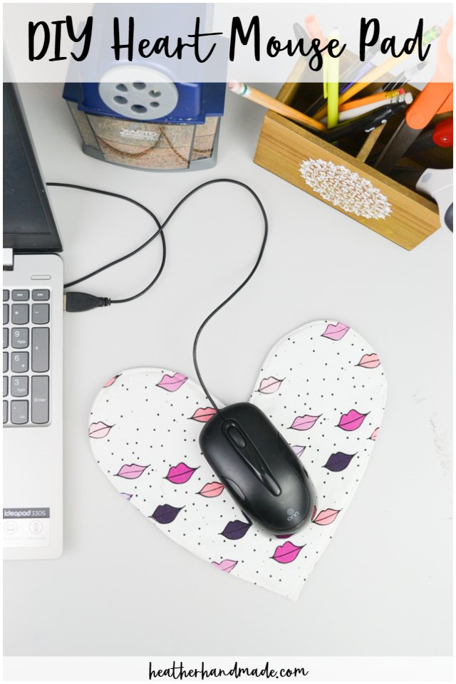 DIY Heart Mouse Pad