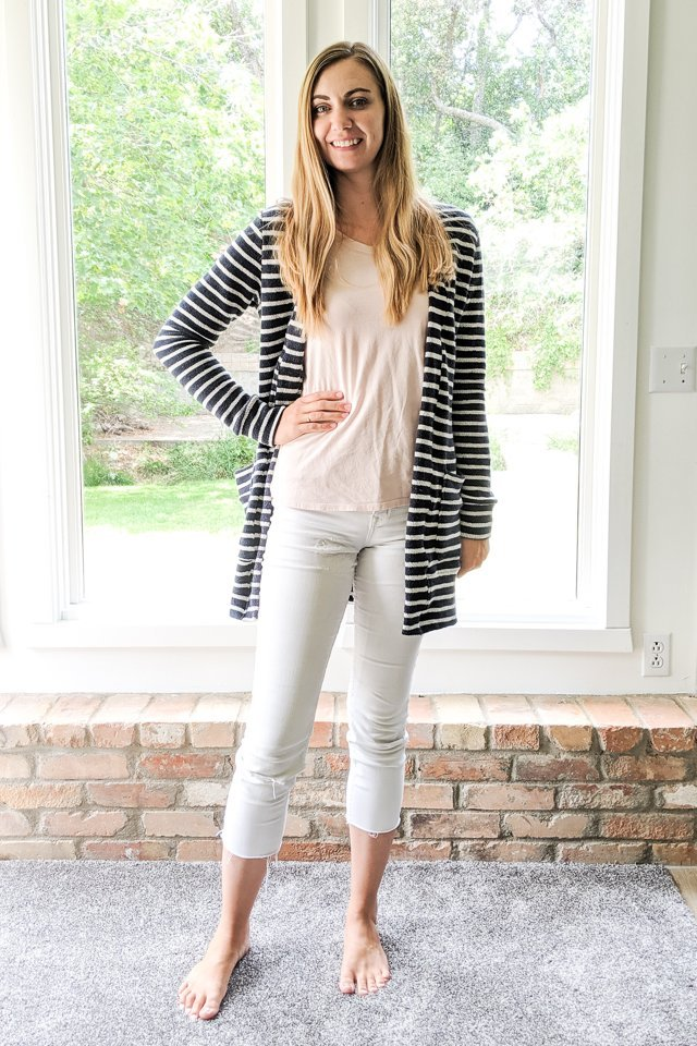 sew french terry cardigan
