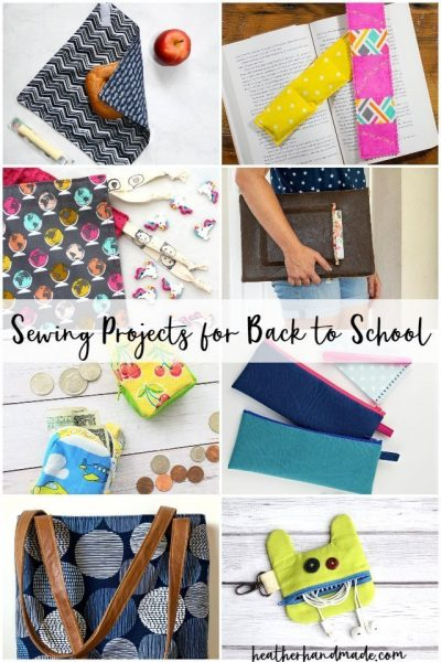 sewing projects for back to school
