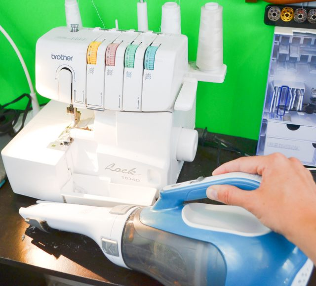 clean sewing room