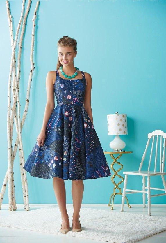Flirty Paper Pieced Dress: Free Sewing Pattern