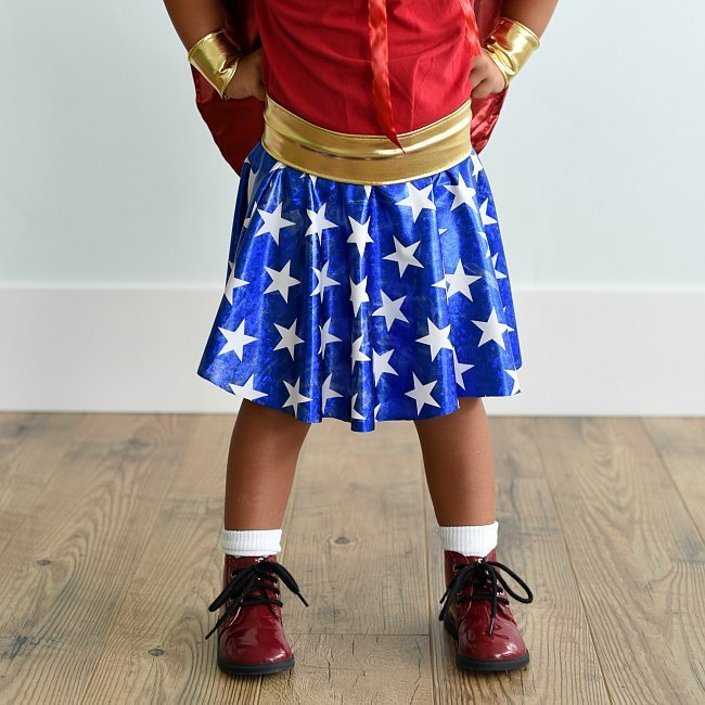 Wonder Woman Costume Pattern for Kids