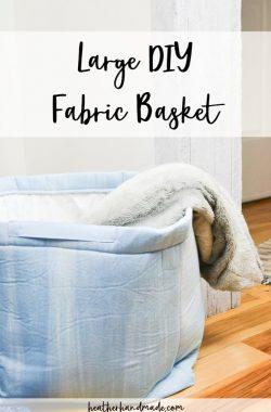 large diy fabric basket