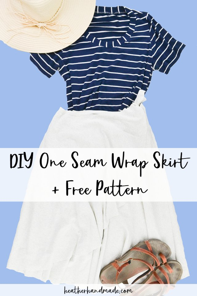 DIY One Seam Wrap Skirt
