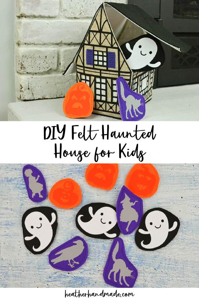 diy felt haunted house
