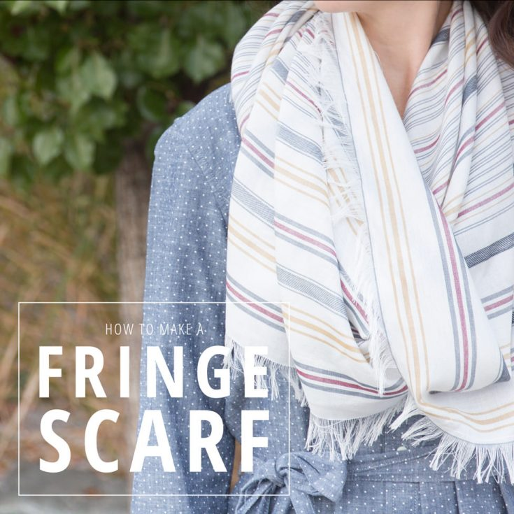 How to Make a Fringe Scarf
