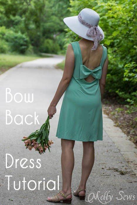 Bow Back Dress Tutorial