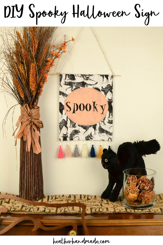 diy spooky halloween sign