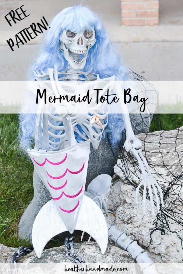 sew mermaid tote bag