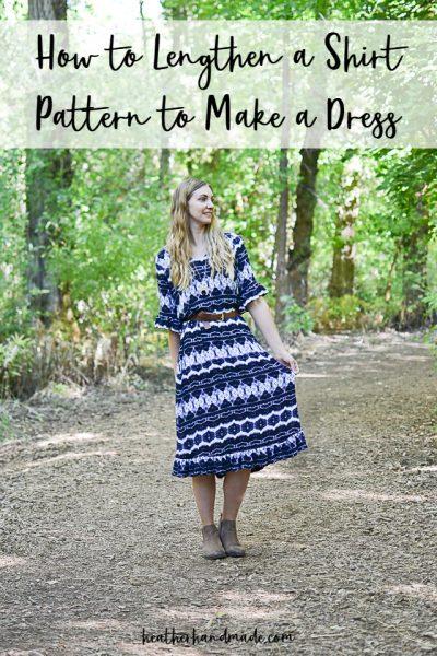 lengthen dress pattern