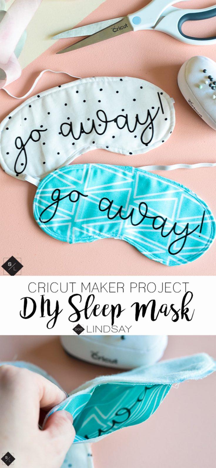 DIY Sleep Mask using your Cricut Maker