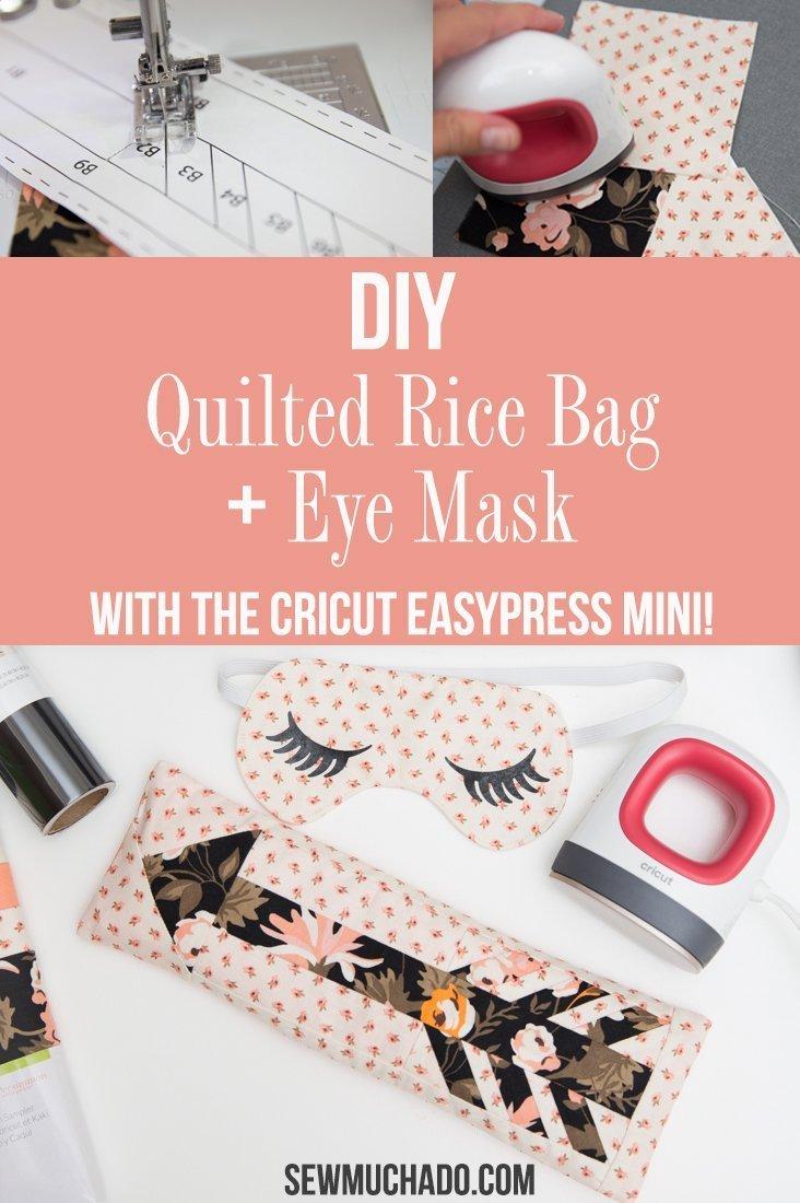 Quilted DIY Rice Bag + Sleep Mask