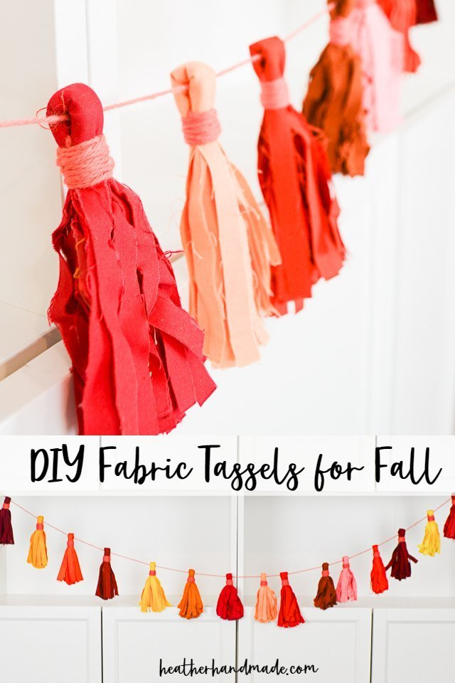 diy fabric tassels for fall