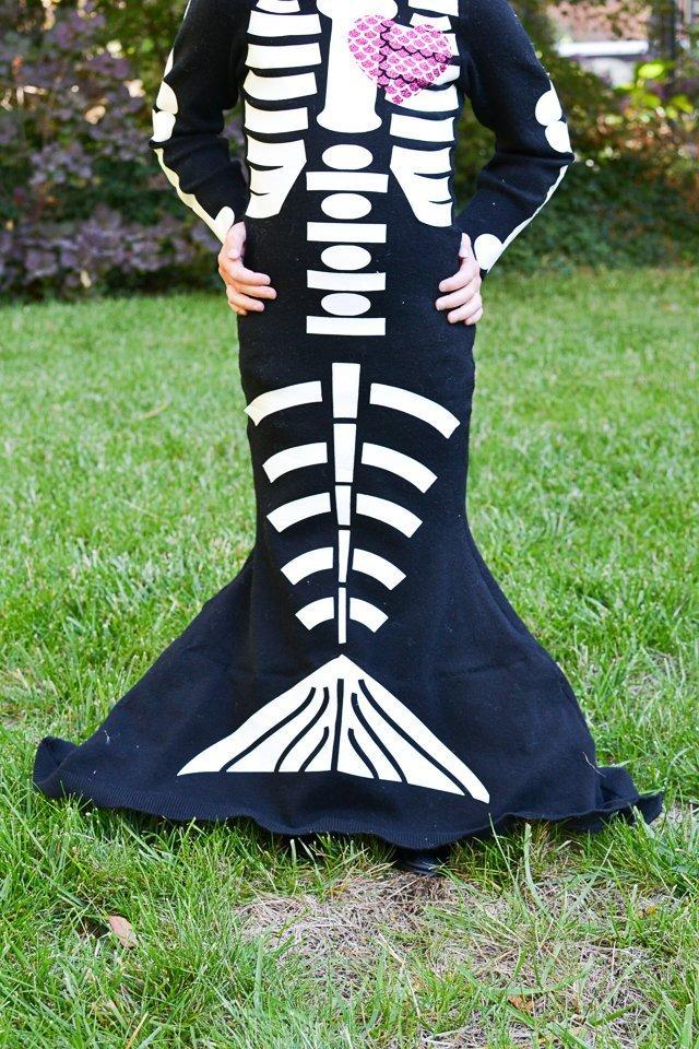 skeleton mermaid diy