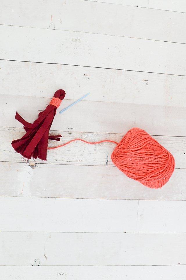 yarn wrap tassels