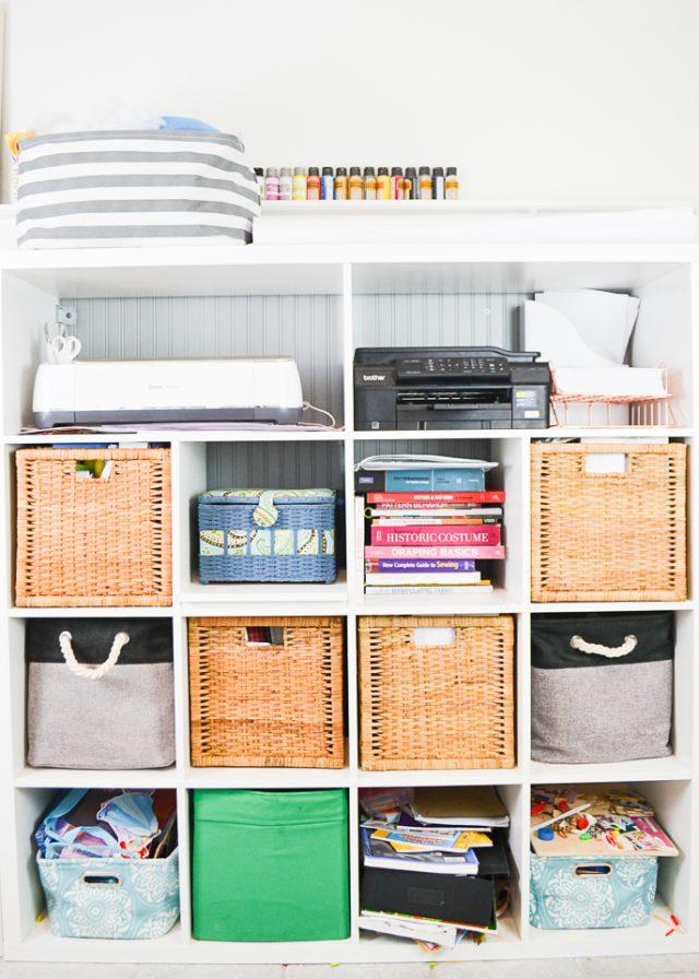 kallax sewing room storage