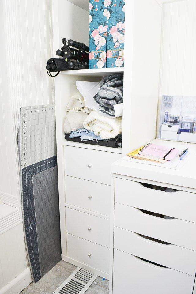 kallax alex sewing room storage