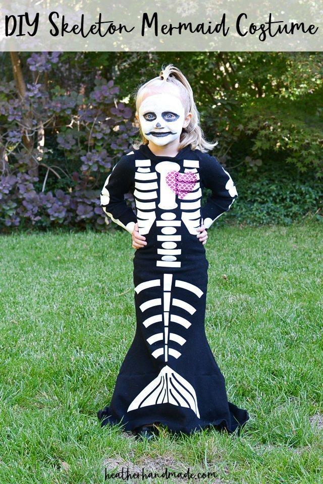 diy skeleton mermaid costume