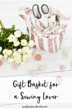 gift basket sewing lover