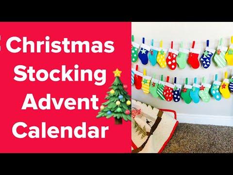 DIY Christmas Stocking Advent Calendar