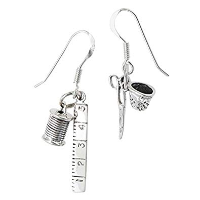 Sewing Notions Charm Earrings