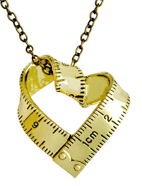 Tape Measure Pendant Necklace