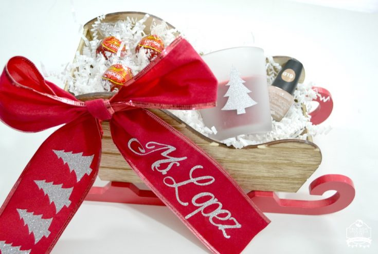 Personalized Sleigh Gift Basket Idea