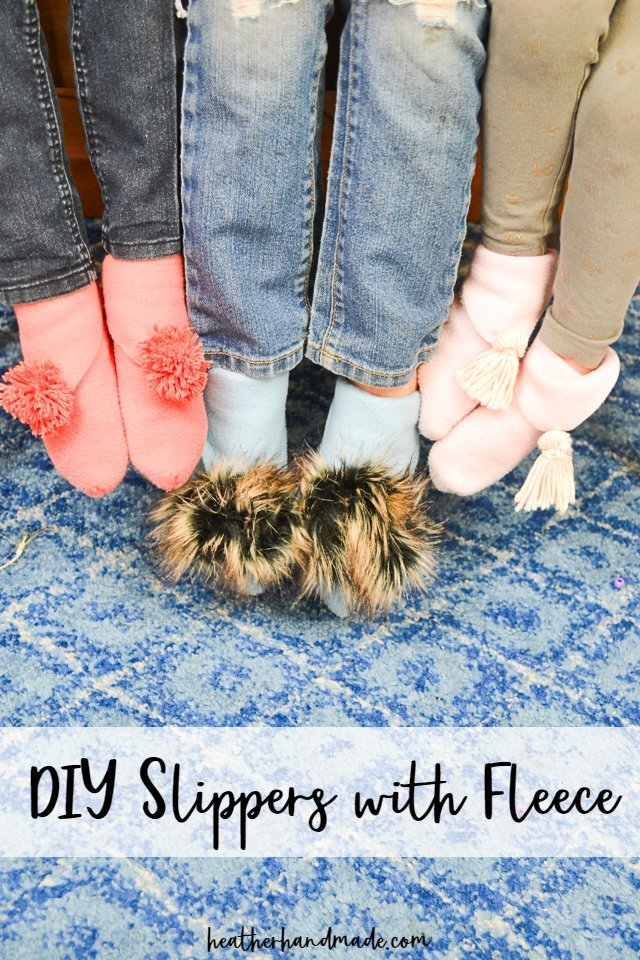 DIY Slippers with Fleece Fabric