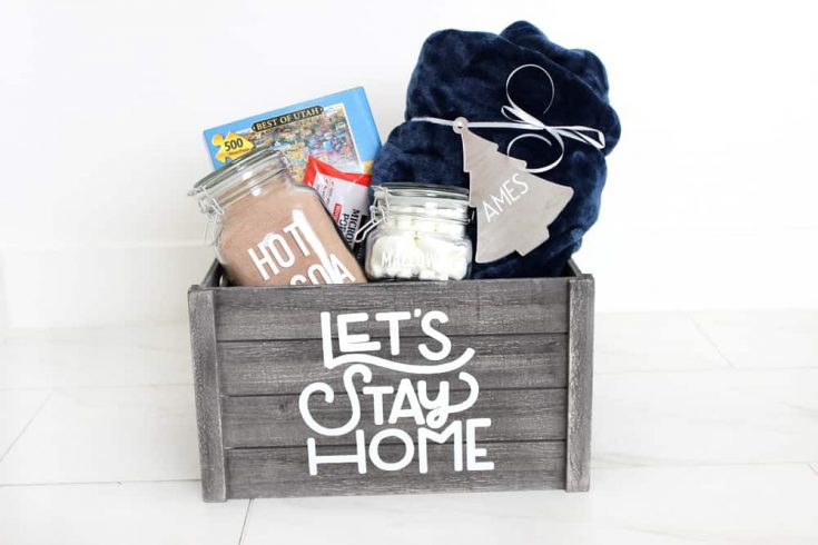 """Easy Personalized """"Night In"""" Gift Basket Idea"""