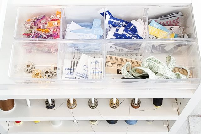organized sewing tools