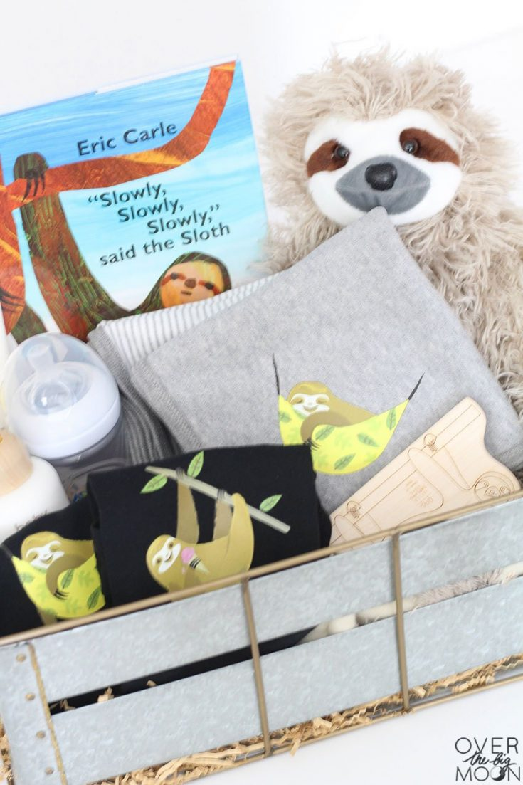Sloth Themed Baby Gift Idea