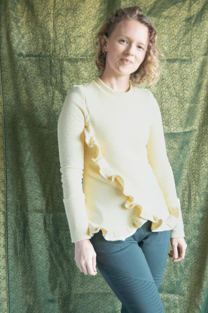 Sew your own DIY ruffle sweater