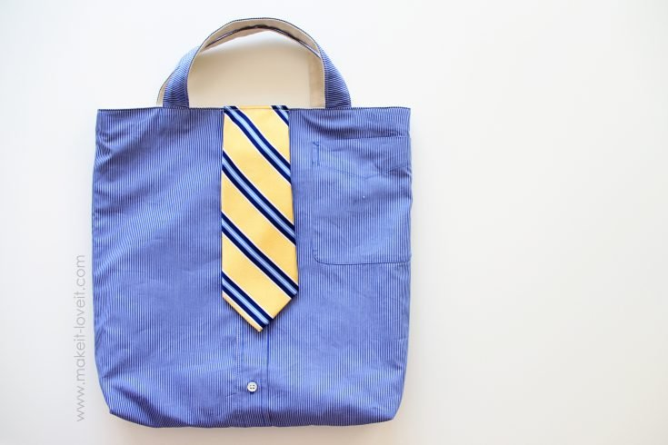 Turn a Men's Shirt/Tie into a Tote