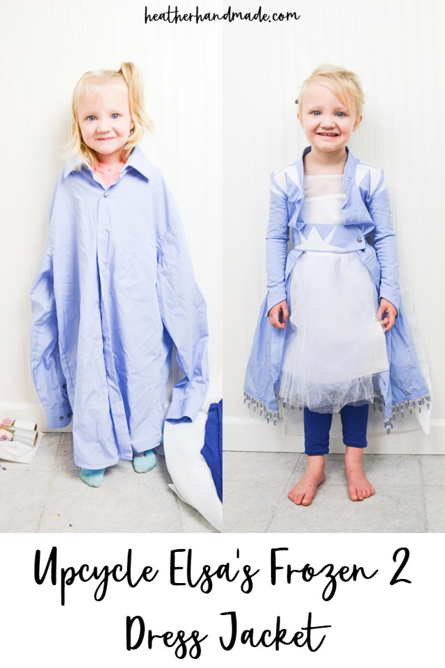 DIY Elsa Frozen 2 Jacket Dress: Upcycled