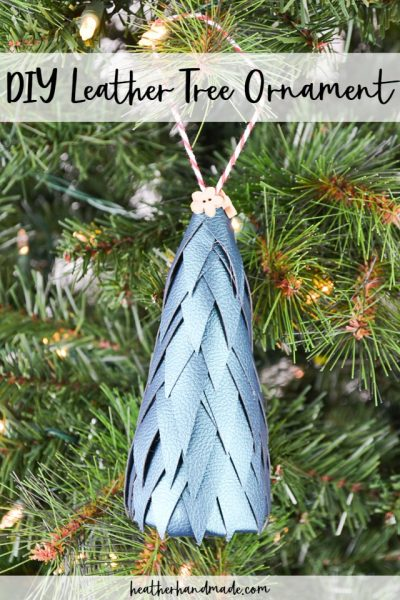 diy leather tree ornament