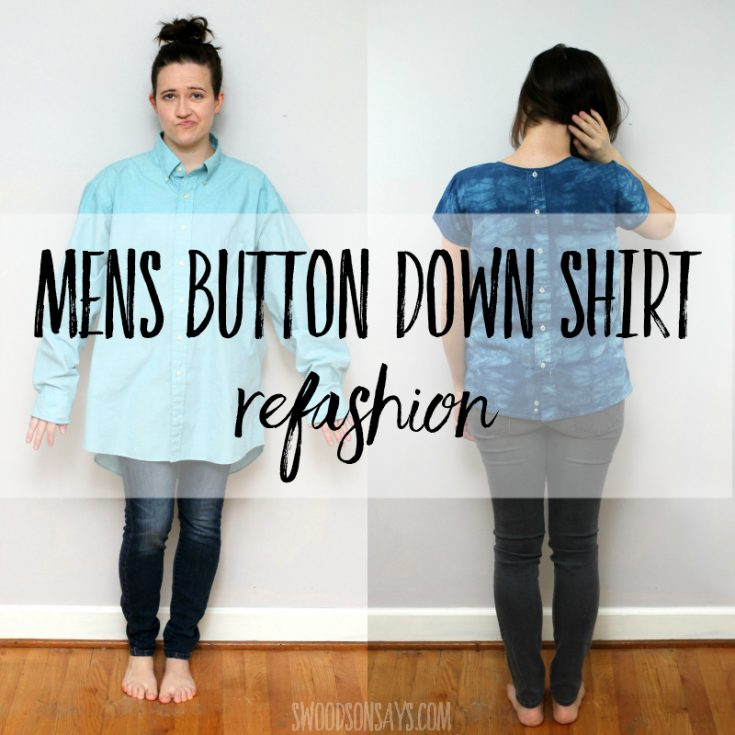Mens dress shirt refashion tutorial