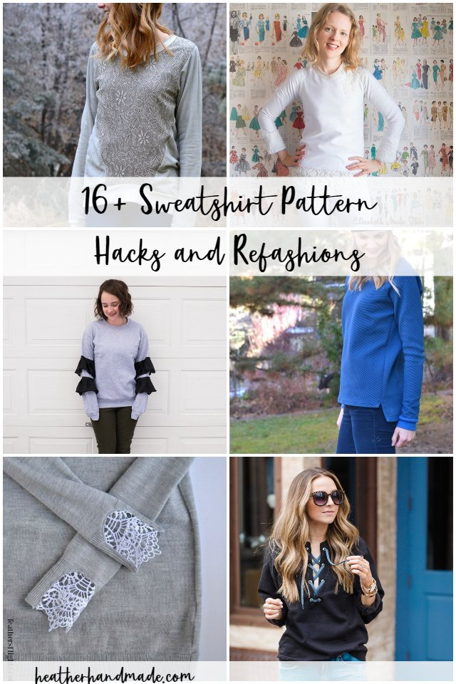 16 Sweatshirt Pattern Hacks and Refashions