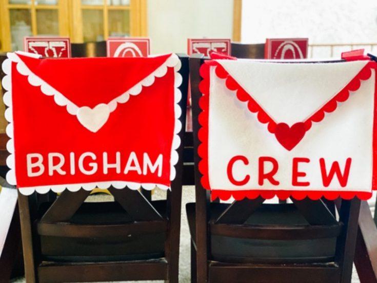 DIY Valentine Envelope Chair Covers