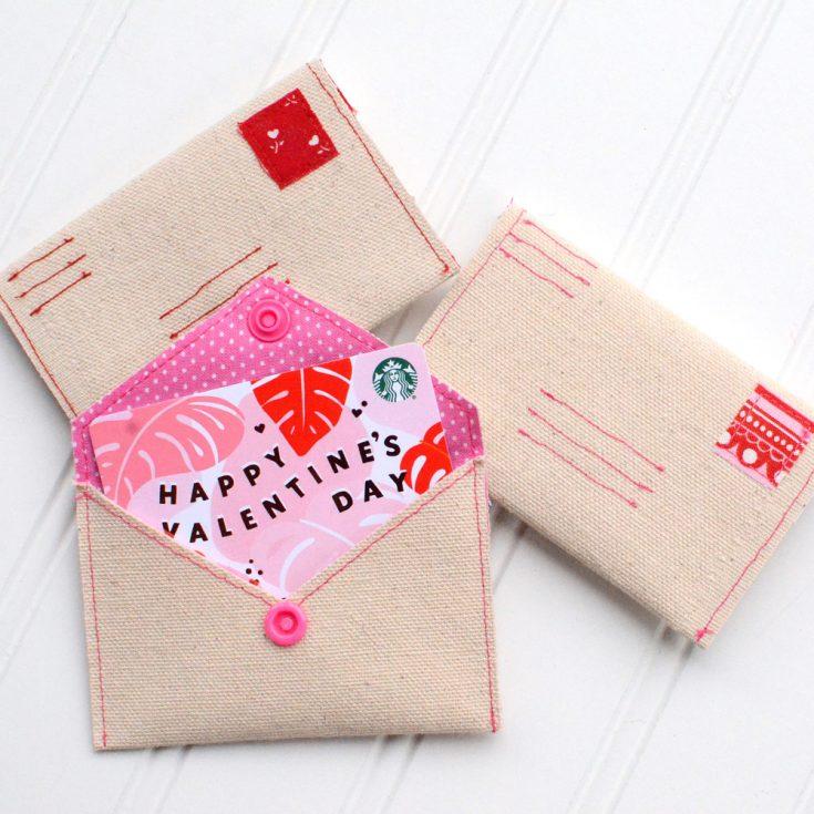 DIY Love Letter Gift Card Envelope