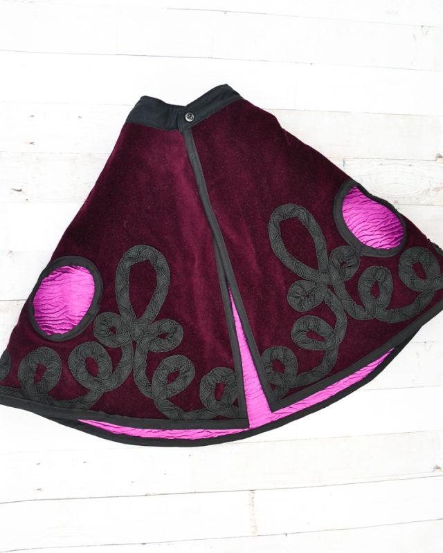 sew collar stand to neckline of cloak