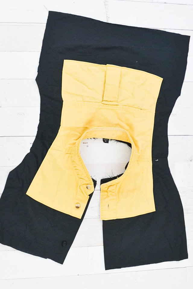 topstitch yellow in place