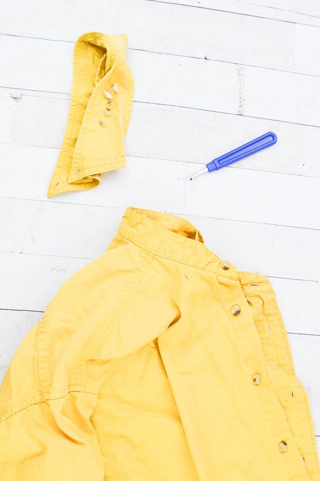 remove yellow collar
