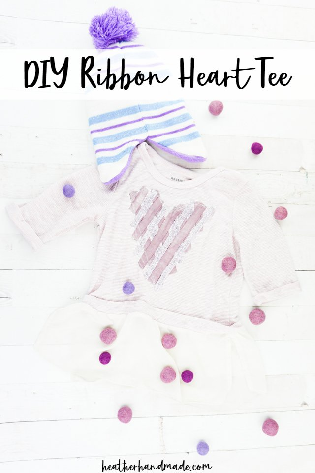 DIY Ribbon Heart Tee