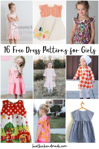 free dress patterns girls
