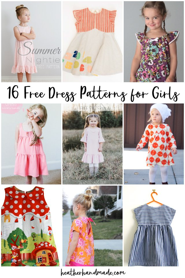 free dress patterns girls