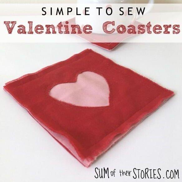 Sew Simple Valentine Coasters