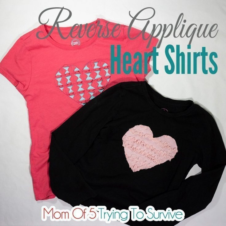 Reverse Applique Heart Shirt Free Tutorial and Pattern