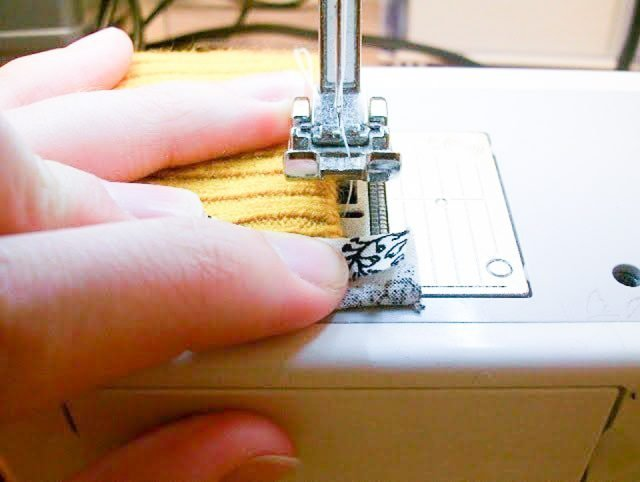 sew hanging edge