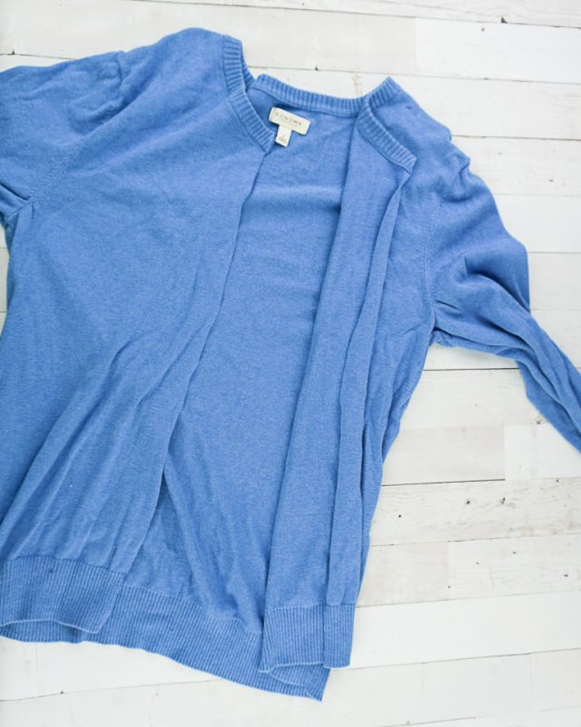 cut sweater center front
